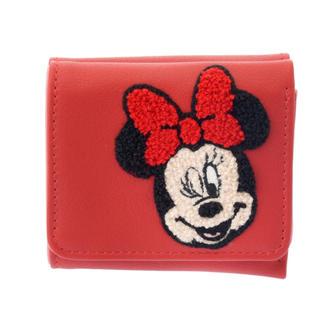 ディズニー(Disney)のディズニー ミニー さがら織 サガラ刺しゅう 刺繍 折り財布 財布 ウォレット(財布)