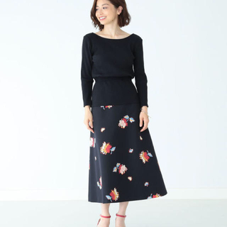 デミルクスビームス(Demi-Luxe BEAMS)の(新品)Demi-Luxe BEAMS フラワースカート(ひざ丈スカート)