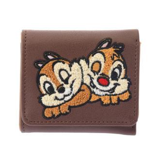 ディズニー(Disney)のディズニー チップとデール さがら織 サガラ刺しゅう 折り財布 財布 ウォレット(財布)