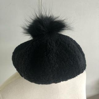 バーバリーブルーレーベル(BURBERRY BLUE LABEL)のバーバリー ベレー帽 帽子(ハンチング/ベレー帽)