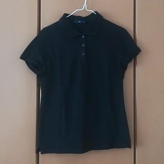 ジーユー(GU)の黒のポロシャツ(ポロシャツ)