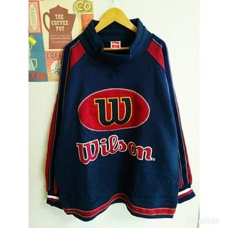 ウィルソン(wilson)の昭和レトロ個性派古着vintage裏起毛秋冬長袖ゆるだぼスウェット 大きいサイズ(スウェット)