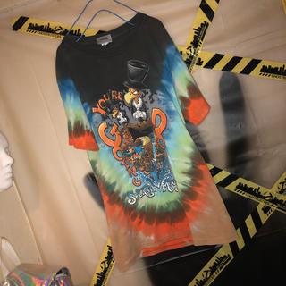 ディズニー(Disney)のタイダイ 総柄 アニマル ディズニー US マルチカラー Tシャツ 古着 韓国(Tシャツ/カットソー(半袖/袖なし))