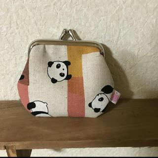 55 パンダさんのがま口(財布)