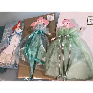 ディズニー(Disney)のリトルマーメイド ドレスカード 5枚セット(キャラクターグッズ)