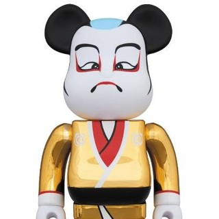 【送料込】歌舞伎 金メッキ 400% ベアブリック ソラマチ
