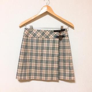 バーバリーブルーレーベル(BURBERRY BLUE LABEL)のバーバリー 巻きスカート(ミニスカート)