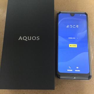シャープ(SHARP)の新品未使用  AQUOS R2 au SHV42 黒(スマートフォン本体)
