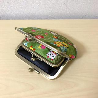 色々和柄 招き猫 矢絣 親子がま口財布 小銭入れ ポーチ(財布)