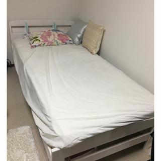 ベッドフレーム+マットレス(シングルベッド)