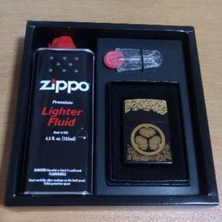 ジッポー(ZIPPO)の断捨離価格【送料込 未使用】Zippo 葵の御紋 セット(タバコグッズ)