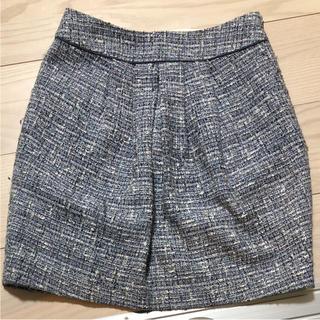 スピックアンドスパン(Spick and Span)の格安♡スピック&スパンブルーツイードスカート(ミニスカート)