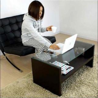 新品!幅90cm ガラス テーブル(コーヒーテーブル/サイドテーブル)