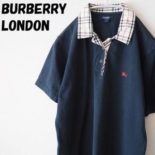 バーバリー(BURBERRY)の【人気】バーバリーロンドン ノバチェック柄ポロシャツ サイズL レディース(ポロシャツ)