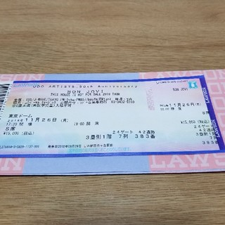 ボンジョビ東京ドームチケット11月26日(海外アーティスト)