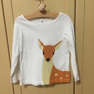 ムジルシリョウヒン(MUJI (無印良品))の無印良品 どうぶつカットソー 鹿 110(Tシャツ/カットソー)