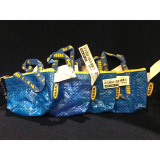 イケア(IKEA)の【4個セット】KNOLIG クノーリグ バッグS ブルー(小物入れ)
