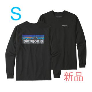パタゴニア(patagonia)の大人気完売商品!パタゴニア ロングTシャツ P-6  黒 S(Tシャツ/カットソー(七分/長袖))