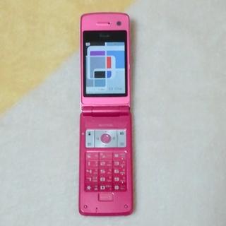 シャープ(SHARP)のドコモ★中古携帯★ガラケー★シャープ SH703i★ピンク(携帯電話本体)