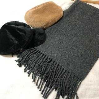 カシラ(CA4LA)の帽子2点 マフラー1点セット(キャスケット)