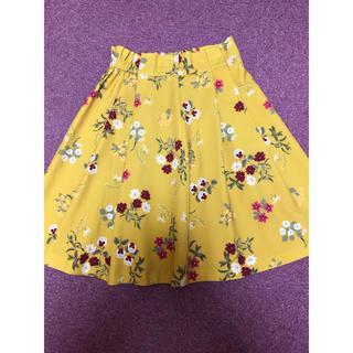 クチュールブローチ(Couture Brooch)の美品  秋冬物  花柄スカート(ひざ丈スカート)