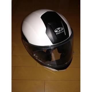 オージーケー(OGK)のogk kabuto kazami L ホワイトメタリックブラック(ヘルメット/シールド)