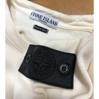 ストーンアイランド(STONE ISLAND)のstone island ソフトタッチホワイトクルーネック(Tシャツ/カットソー(七分/長袖))