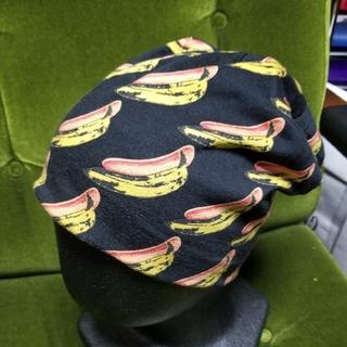 カシラ(CA4LA)のCA4LA アンディウォーホル バナナ柄 リバーシブルニットキャップ(ニット帽/ビーニー)