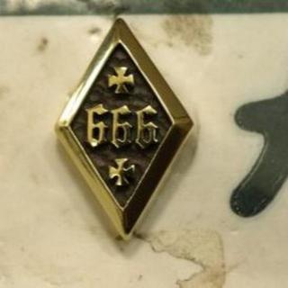 真鍮製ナンバーボルト★666★悪魔の数字★アイアンクロス★全車種対応(その他)