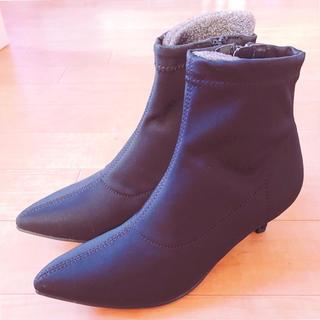ジーユー(GU)のGU☆ソックス風ブーツ(ブーツ)
