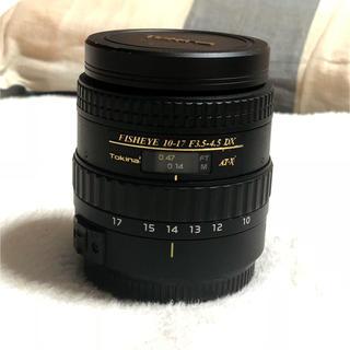 キヤノン(Canon)のTOKINA AT-X 107 魚眼レンズ 10-17mm canon(レンズ(ズーム))