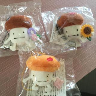 エヌティティドコモ(NTTdocomo)のdocomo☆ドコモダケ ストラップ3個セット☆非売品 液晶クリーナー(ノベルティグッズ)