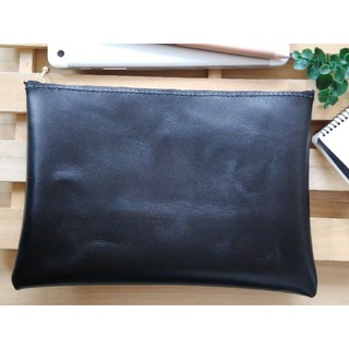 革のマルチケース 黒 シンプルDesign(ポーチ)
