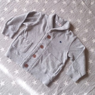 プティマイン(petit main)のpolo 綿ニットジャケット カーディガン90(カーディガン)