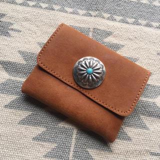 Handmade☆コンチョレザーコインケース カードケース(財布)