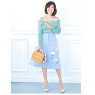 チェスティ(Chesty)の【新品タグ付き】Scallop knit エメラルドグリーン(カットソー(長袖/七分))