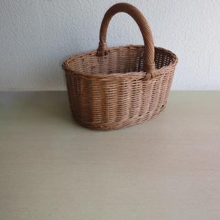 ラタンミニ小判型手付きバスケット(バスケット/かご)