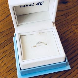 カナルヨンドシー(canal4℃)の【美品】カナル4℃ ホワイトゴールド リング k10(リング(指輪))