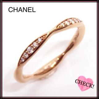 シャネル(CHANEL)のCHANEL シャネル 750PGカメリアコレクションダイヤモンドリング#50(リング(指輪))