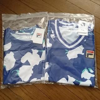 フィラ(FILA)の新品 フィラ テニス Vネックシャツ M / エレッセ プリンス パラディーゾ(ウェア)