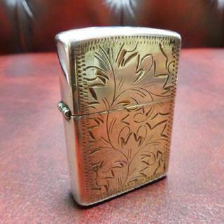 ジッポー(ZIPPO)のZIPPO ジッポ 銀無垢 彫金 手彫り シルバー ライター(タバコグッズ)