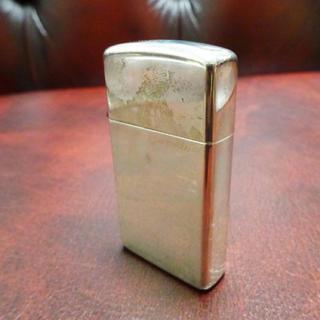 ジッポー(ZIPPO)の美品! 銀無垢 ZIPPO ジッポ シルバー スリム ライター(タバコグッズ)