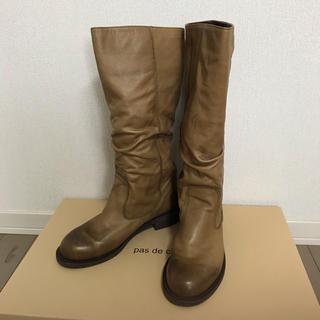 パドカレ(pas de calais)のpas de calais(パドカレ)  ブーツ   ブラウン 牛革 靴(ブーツ)