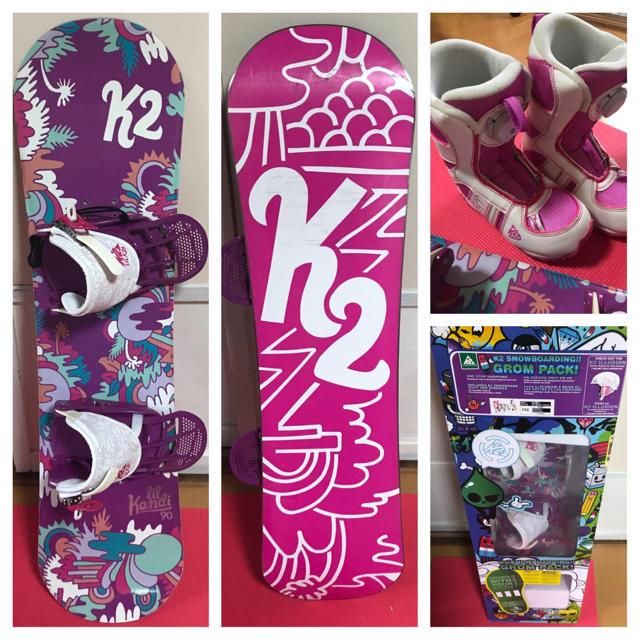 K2(ケーツー)のHaLe様専用  K2 スノーボードセット 11C スポーツ/アウトドアのスノーボード(ボード)の商品写真