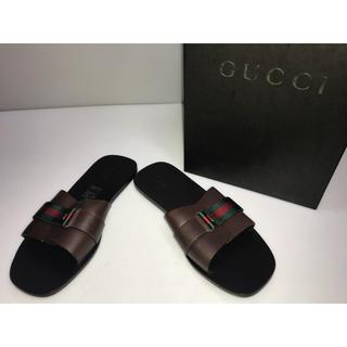 グッチ(Gucci)の新品GUCCIグッチサンダルローヒール赤x緑グッチカラー34.5 21.5cm(サンダル)