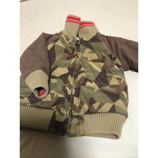 ジュンコ コシノ コート 迷彩 90 カーキ リバーシブル ジャケット