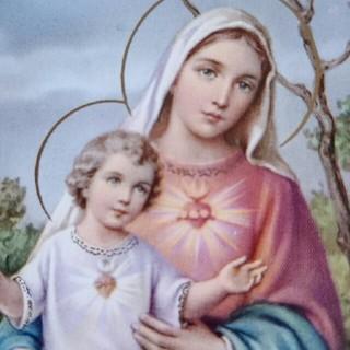 ルルドの泉 *聖母マリア様  立像  不思議のメダイ付き