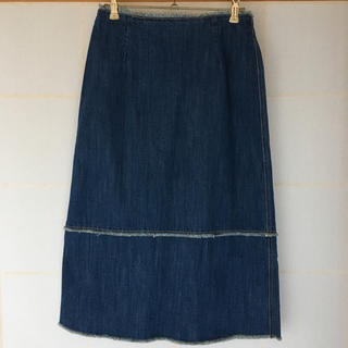 ルシェルブルー(LE CIEL BLEU)のデニムスカート(ひざ丈スカート)