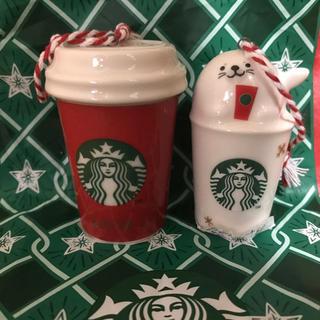 Starbucks Coffee - スターバックス ★オーナメント★アザラシ&レッドカップ★新品