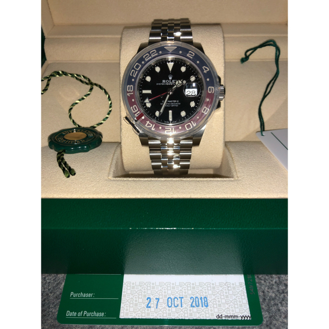 ROLEX(ロレックス)の2018モデル新品未使用ロレックス GMTマスターII 126710BLRO メンズの時計(腕時計(アナログ))の商品写真